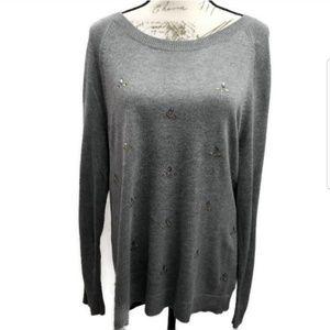 Liz Claiborne Embellished Sweater XL